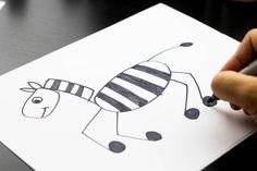 kids how to draw a zebra