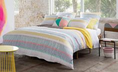 https://flic.kr/p/PuKtgU | Taylor Quilt Cover Set by KAS Australia | Cool sea tones are accented by coral highlights and warm sandy naturals in this fully embroidered design. A new take on a traditional nautical stripe. www.beddingsquare.com.au/taylor-quilt-cover-set-kas-p.html
