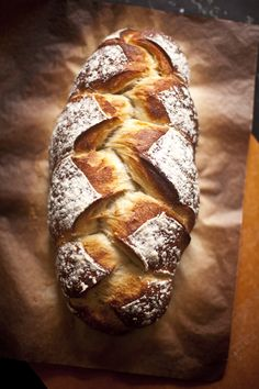 Braided peasant bread