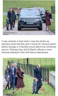 George, Charlotte and their parents went to Christmas Service
