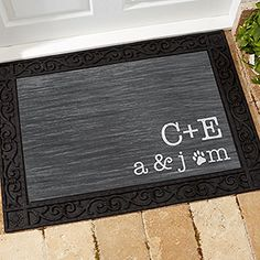 Family Initials Personalized Doormat-18x27