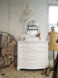 White Romantic Dresser