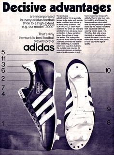 Adidas 2000 my favourite football boots in the early 70's