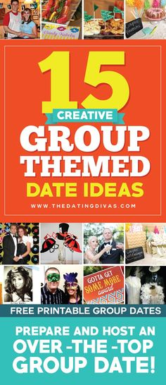 15 Creative Group Themed Date Ideas (Free Printables Included)