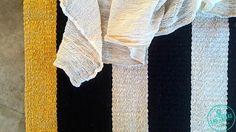 Texturas artesanales tejidas en telar