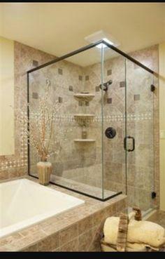 Glass Shelves, Medicine Cabinet, Alcove, Tiles, Bathtub, Bathroom, Room Tiles, Bath Tube, Bath Tub