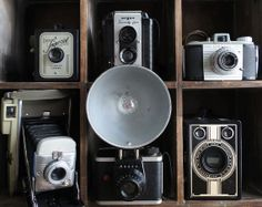 vintage camera lot  polaroid camera instant by SweetMachines