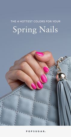 Update your nail polish wardrobe with these new trendy shades for Spring.