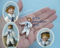 poseable porcelain doll, half inch scale http://www.etsy.com/es/shop/marianarbon?section_id=11375810