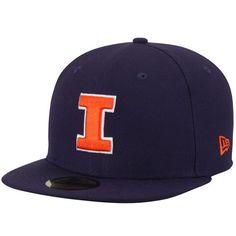 Illinois Fighting Illini New Era Basic 59FIFTY Fitted Hat - Navy