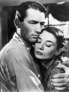 Gregory Peck and Audrey Hepburn in Roman Holiday (William Wyler, 1953)