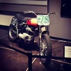 We're checking out the Braving Baja exhibit at the Petersen Museum. Bud Ekins Triumph is on display along with a bunch of other buggies, trucks and bikes.