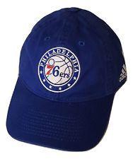 991ee8d0f38ab Philadelphia 76ers Cap Slouch Style Adjustable Logo Hat Team Blue NBA  Headwear