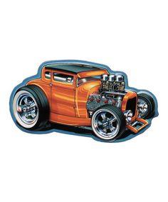 Open Road Brands Orange Coupe Hot Rod Magnet | Best Price and Reviews | Zulily Fridge Decor, Hot Rods, Orange Orange, Car, Vintage, Products, Magnets, Automobile, Vintage Comics