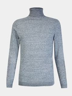 Grey Roll Neck Knitted Jumper