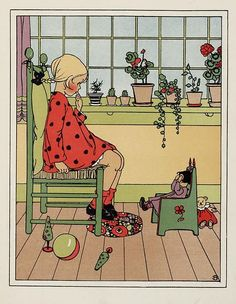 "illustration : Sijtje Aafjes, illustratrice hollandaise, ""Moeders bloemen"", chambre d'enfant"