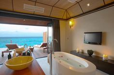 Deluxe water villa in Lily Beach Resort & Spa