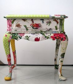 39 Furniture Decoupage ideas –  Give old things a second life