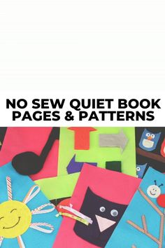 Are you wondering how to make a no sew quiet book or where to find templates and patterns? Then you'll want to check out these 10 DIY no sew quiet book pages and ideas. Includes printable patterns and instructional tutorials on how to assemble the different pages. You can finally make that busy book that you've been wanting to make for your toddlers! #quietbook #quietbooks #nosew #quietbookpages #busybooks #busybook Quiet Book Patterns, Owl Patterns, Diy Sensory Toys, Homemade Books, Felt Quiet Books, Chenille, Busy Book, Book Pages, Music Notes