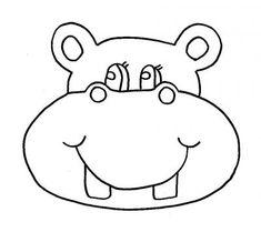 hippo ausmalbild – Ausmalbilder für kinder