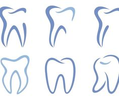 Illustration about Set of abstract teeth, illustration. Illustration of white, tooth, teeth - 15461395 Dental Clinic Logo, Dentist Logo, Dental Art, Dental Quotes, Dental Humor, Dental Hygiene, Dental Training, Logo Design Tips, Graphic Design