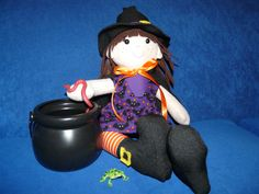 rag doll. Whitney Witch. I used a Funky friends pattern. http://www.funkyfriendsfactory.com/products/patterns/cloth-doll-patterns/whitney-witch-halloween-cloth-doll-instant-download