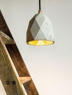 Concrete hanging lamp