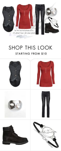 """""""Untitled #1050"""" by pandoraslittlebox ❤ liked on Polyvore featuring H&M, Masquerade, Timberland and LogoArt"""