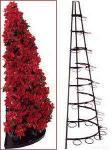 8' Slim line half front Poinsettia Tree @postemac for all those pesky fake ones. :)