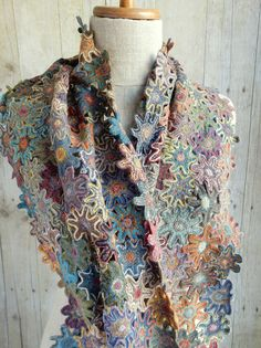 """Poly"" large wool scarf   frenchneedle.com"