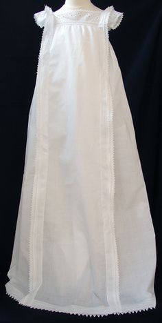 1800's Neo-Classical Christening Gown. Check out the next picture of it. The work is pure heaven on Earth!
