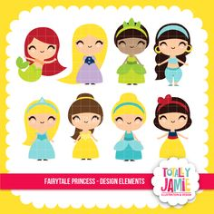 Fairytale Princess Set - beautiful graphics for your craft and creative projects.