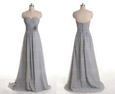 Grey bridesmaid dress long bridesmaid dress chiffon by sposadress, $119.00