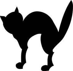 black cat pumpkin stencil