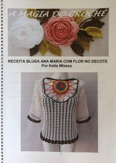 LAUNCH! Revenue Full Blouse Ana Maria flower at the neckline
