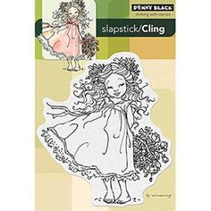 Penny Black Decorative Rubber Stamps, Flower Charm