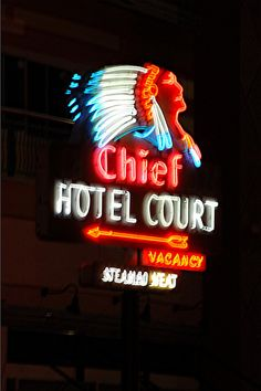 Gimme a town. Cool Neon Signs, Vintage Neon Signs, Advertising Signs, Vintage Advertisements, Sign O' The Times, Neon Licht, Neon Moon, Roadside Attractions, Old Signs