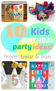 10 fun kids birthday ideas. . Pinned from The Jenny Evolution's weekly blogger party.