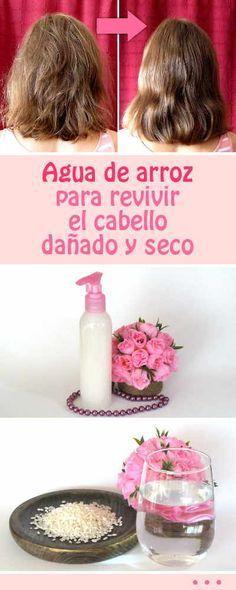 Agua de arroz para revivir el cabello dañado y seco #pelo #cabello #seco #dañado #revivir #remediosnaturales