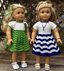 American Girl Doll Ocean Waves Summer Dress pattern by Elaine Phillips