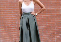 A Pair & A Spare   DIY Pleated Midi Skirt