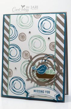 Stampin' Up! Use MFT Scribble Flowers stamp & dies Card Making Inspiration, Making Ideas, Su Swirly Scribbles, Miss You Cards, Friendship Cards, Bird Cards, Get Well Cards, Scrapbook Cards, Scrapbooking