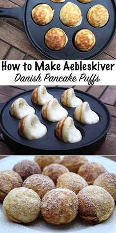 How to Make Aebleskiver ~ Danish Pancake Puffs
