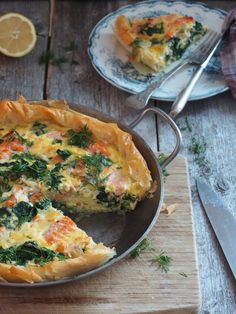 Lunch Recipes, Cooking Recipes, Quiche, Food And Drink, Fish, Breakfast, God, Morning Coffee, Dios