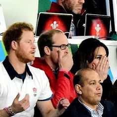 Prince William, Kate & Harry at the RugbyWorldCup ENG v WAL match tonight RWC2015