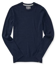 """Layer our Solid Crew Neck Sweater over a woven shirt and you've got yourself handsome style in an instant! It's crafted with soft, slightly stretchy fabric and features a classic wash. Wearing it with crisp chinos is a no-brainer, son!<br><br>Authentic fit. Approx. length (M): 28""""<br>Style: 4811. Imported.<br><br>55% cotton, 15% nylon, 15% polyester, 15% wool.<br><br>Machine wash/dry flat."""