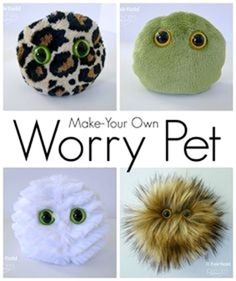 Lots of kids struggle with worries or anxiety, especially around the start of… kids crafts Worry Pets - Sensory Buddies for Anxiety - Fairfield World Craft Projects Cute Crafts, Diy And Crafts, Fun Crafts To Do, Cute Diys, Kid Crafts, Quick Crafts, Simple Crafts, Craft Projects For Kids, Diy Crafts Summer