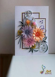 How To Drill Small Beach Stones — *Excellent* instructions Neli Quilling, Quilling Cards, Paper Quilling, Quilled Creations, Heartfelt Creations, Quilling Patterns, Quilling Designs, Flower Cards, Paper Flowers