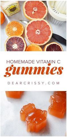 Homemade Vitamin C Gummies - Give your immune system a boost with these delicious and easy to make DIY gummies! Perfect for kids and adults who love citrus. #vitaminA #followback #vitaminB