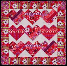 = free pattern = Sweethearts quilt, featured at Quilt Inspiration.